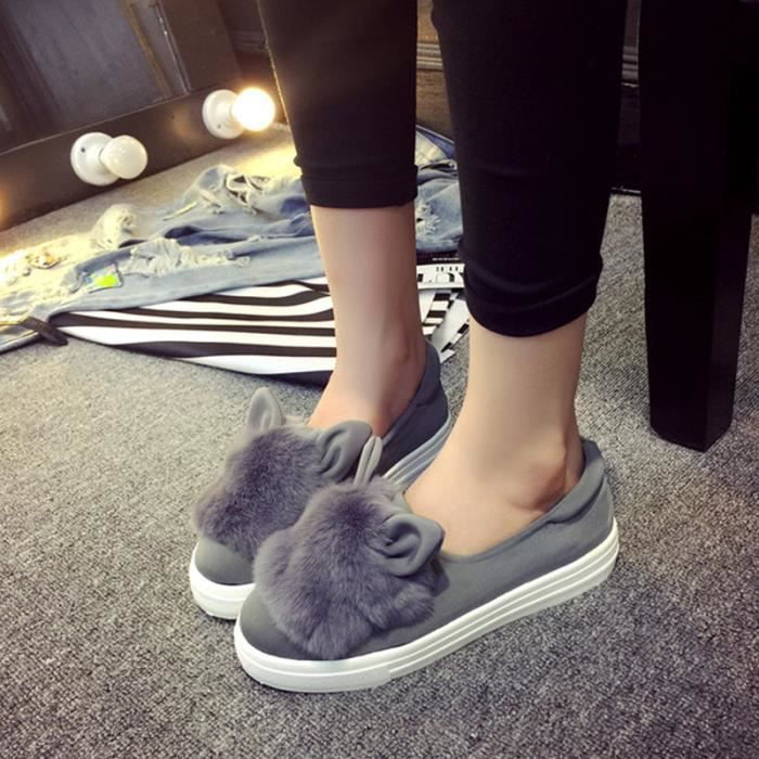 Chaussures Femmes Hiver plate Chaussures LKG-XZ060Gris40