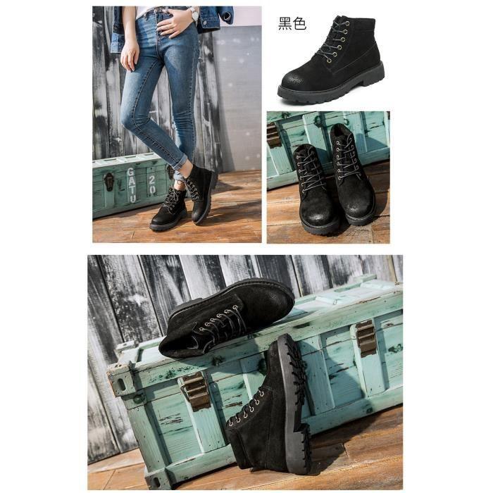 de nouveaux modèles de bottes Martin femmes tête ronde couleur unie bottes courtes bottes mat bottes européennes et dG3iVVvm