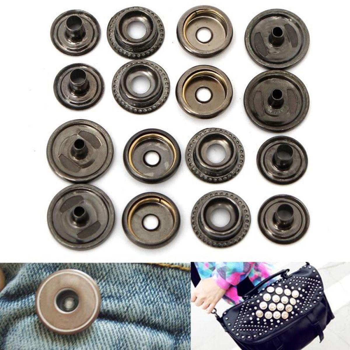 ... outil pour cuir maroquinerie. FERMETURE - BOUTON 100x bouton pression  métal argenté bronzé ... a2f1489e8d8