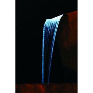 Lame d'eau avec éclairage Niagara 90 Led Inox
