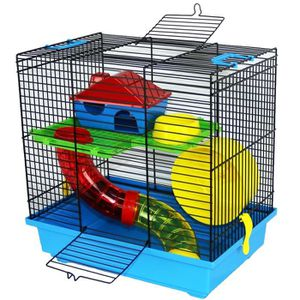 ACCESSOIRE ABRI ANIMAL Smith Cage hamster bleu hamster nain Hamsters Sour