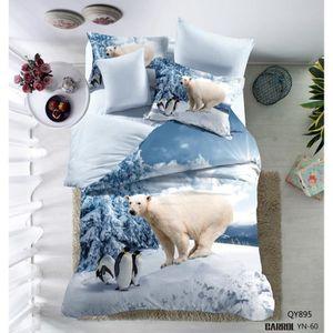 housse de couette animaux 3d achat vente pas cher. Black Bedroom Furniture Sets. Home Design Ideas