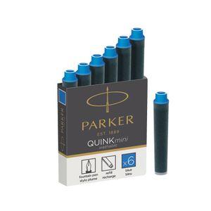 ENCRE Parker Quink MINI Cartouche d'encre bleu pack de 6