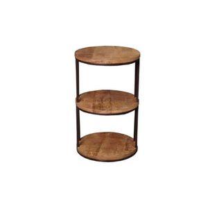 TABLE D'APPOINT Industriel - Sellette ronde 3 plateaux Pachtoune -