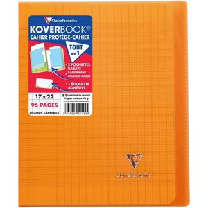 CAHIER CLAIREFONTAINE - Cahier piqûre KOVERBOOK - 17 x 22