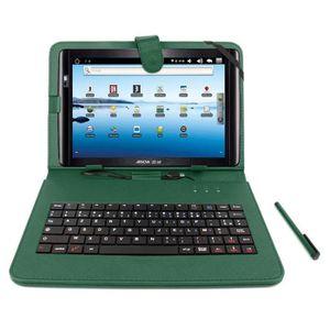 CLAVIER D'ORDINATEUR Etui vert + clavier pour Archos 101 Titanium