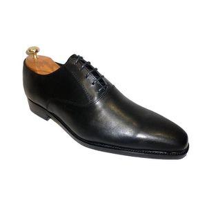 HUNDBERRY Chaussure mode en cuir de veau lacet homme Richelieu - Couleur - Marron, Pointure - 43