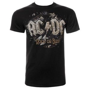583cbc58910d9 T-SHIRT hommes ACDC Rock or Bust Logo Officially Licensed