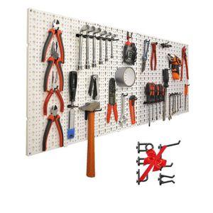 MODULE OUTILS Panneaux perforés porte outils muraux avec 60 croc