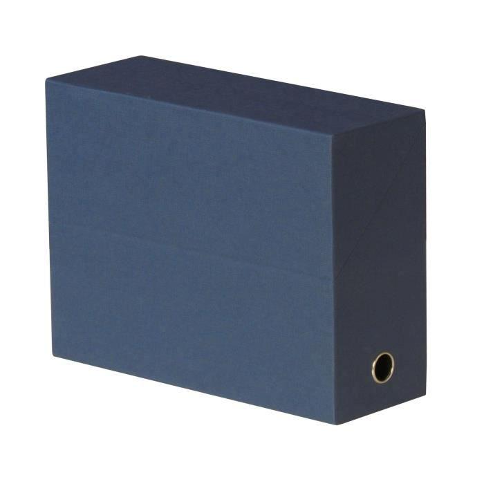 FAST Boite de transfert - Dos 12 cm - 34x25,5 toile - Bleu fonce