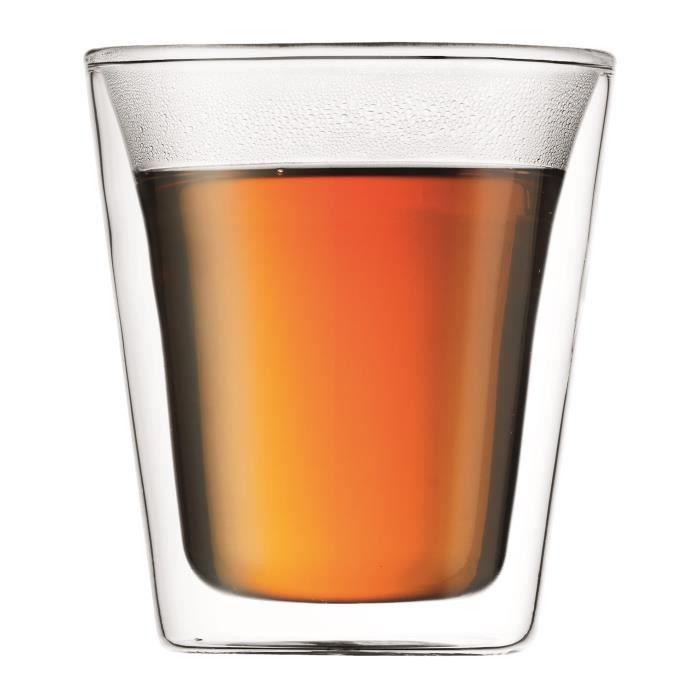 BODUM CANTEEN Set 2 verres double paroi 0.2 l Transparent