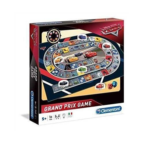 CLEMENTONI - CARS 3 - Jeu de course Grand Prix - Ce jeu de plateau incontournable est de retour avec les voitures légendaires de Cars 3 ! - Mixte - A partir de 5 ans - Livré à l'unitéJEU DE SOCIETE - JEU DE PLATEAU