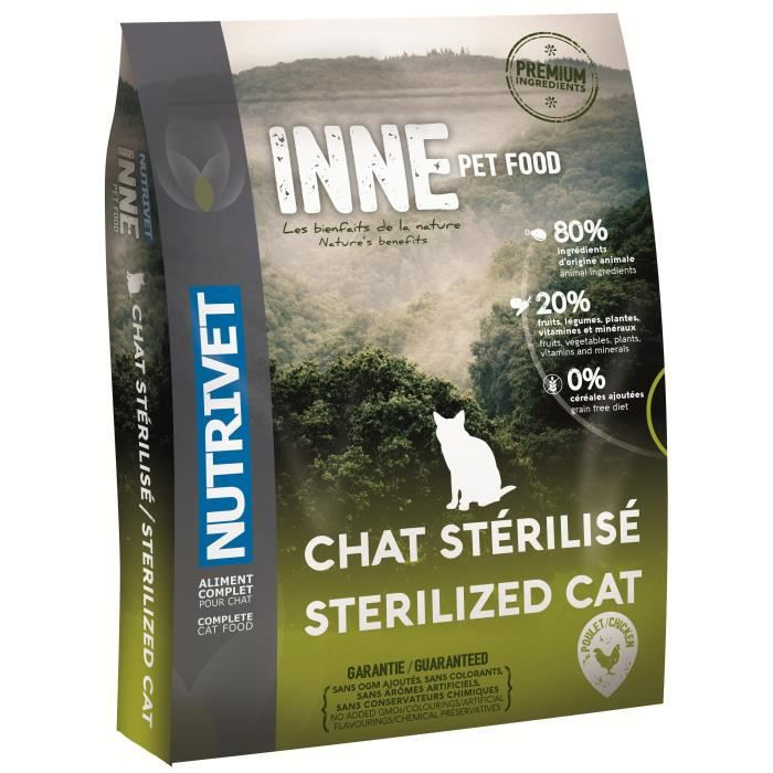 NUTRIVET Croquettes Inne - Pour chat stérilisé - 1,5 kg