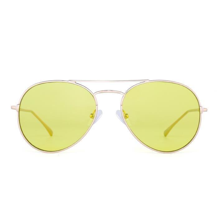 1b2382c9f80e5a Lunettes de soleil Aviator clair plat classique teinté lentille lunettes  métal hommes 3QJYSY