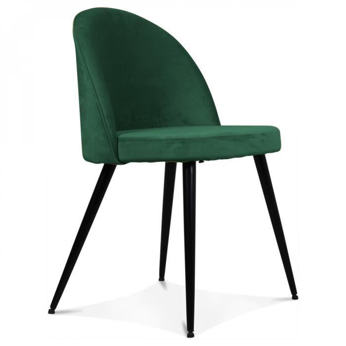 lot 2 chaises vintage scandinave velours vert menthe estelle achat vente chaise vert cdiscount - Chaise Vintage Scandinave