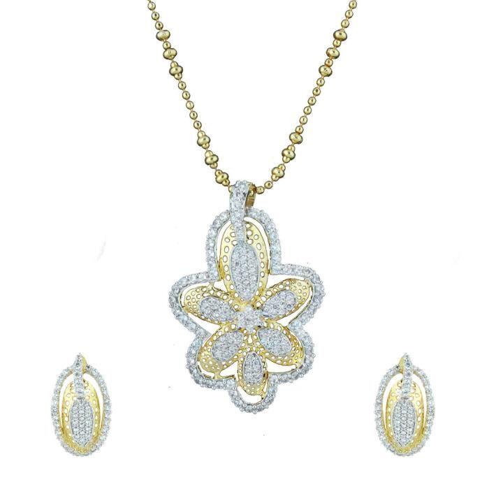 Plaqué or féminin fleur magique Ensemble pendentif pour Nl1101067g HAKPX