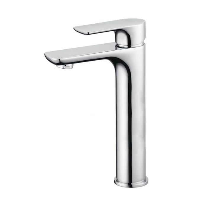 mitigeur alto haut en laiton chrom pour vasque poser chrome - Mitigeur Haut Vasque