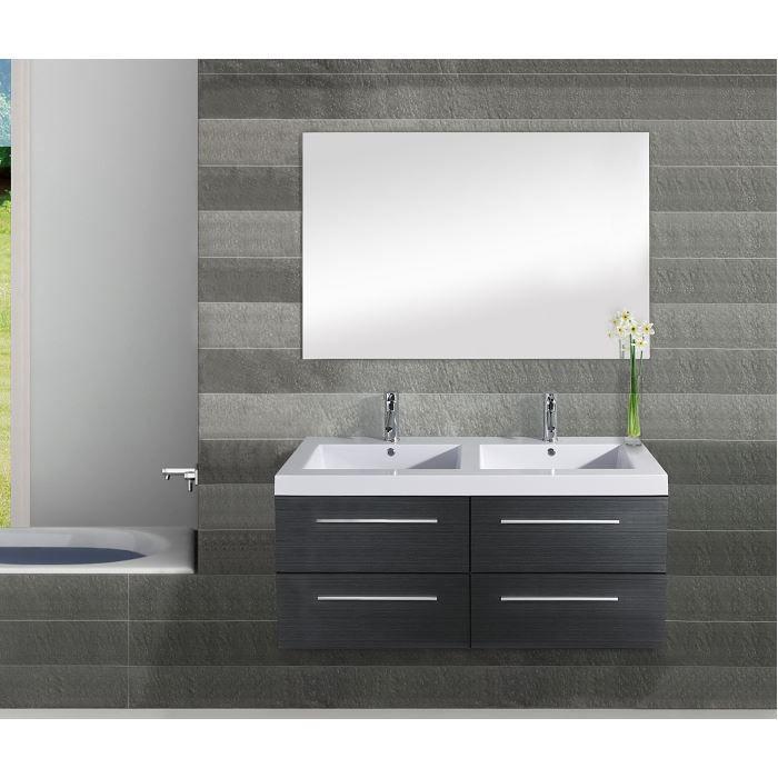 meuble double vasque saturn 120cm gris achat vente meuble vasque plan meuble double vasque. Black Bedroom Furniture Sets. Home Design Ideas