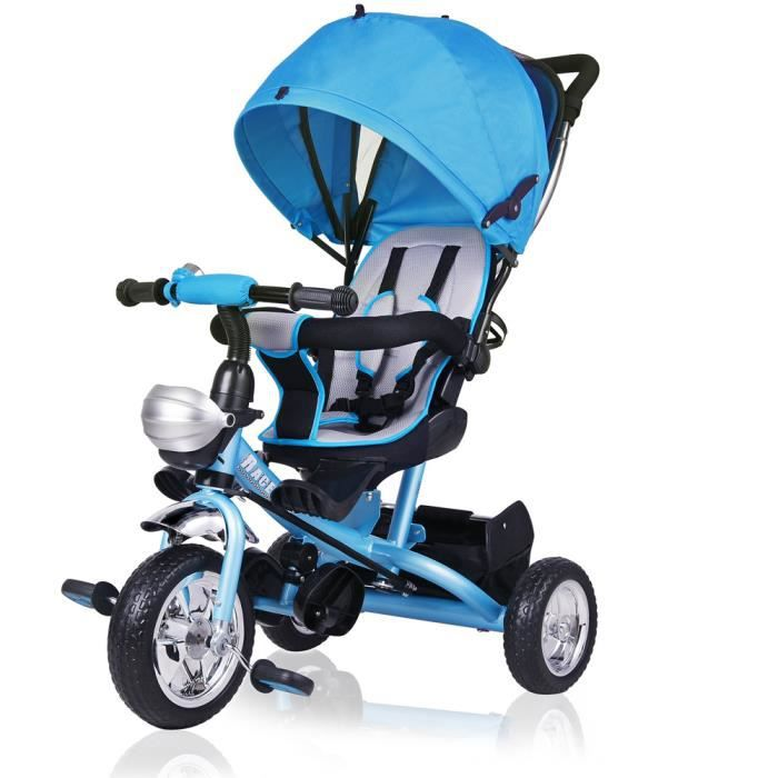 TRICYCLE Tricycle bleu enfant 10 à 36 mois Guidon Panier To