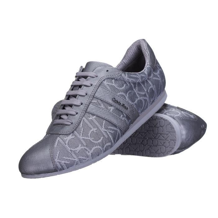 b32e75ec0b35 Chaussure Calvin Klein George Ck Logo 3d Pewter... Gris - Achat ...