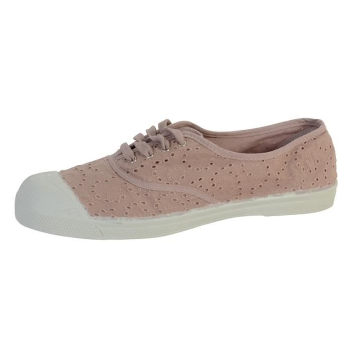 Tennis Broderie Anglaise Femme Bensimon 0437 Vieux Rose KsH2CSf