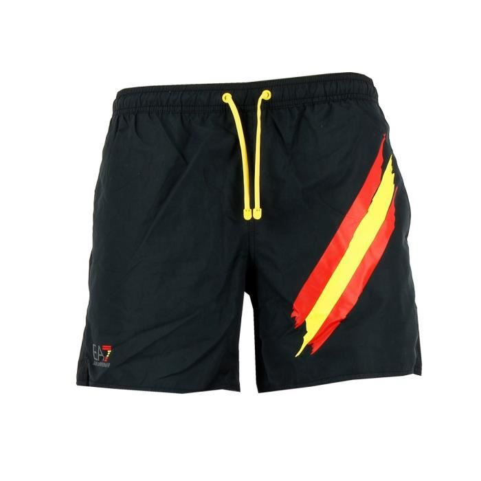 nouvelles promotions chaussures de tempérament vaste gamme de Short de bain EA7 Emporio Armani (Noir)