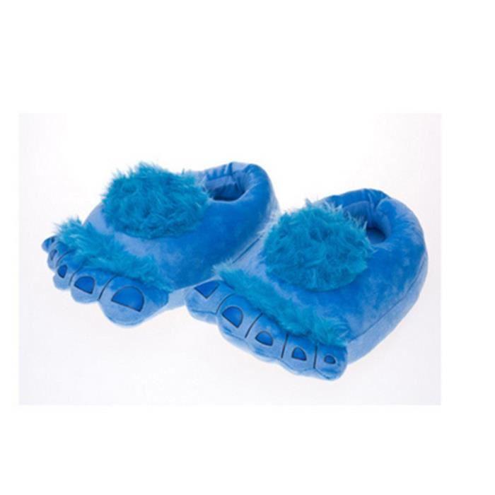 Accueil Pantoufles Femme Homme Chaussons Peluche Coton rembourré Chaussons Hobbit Big Chaussons Pieds de sol Chaussures confortables PG3m6z