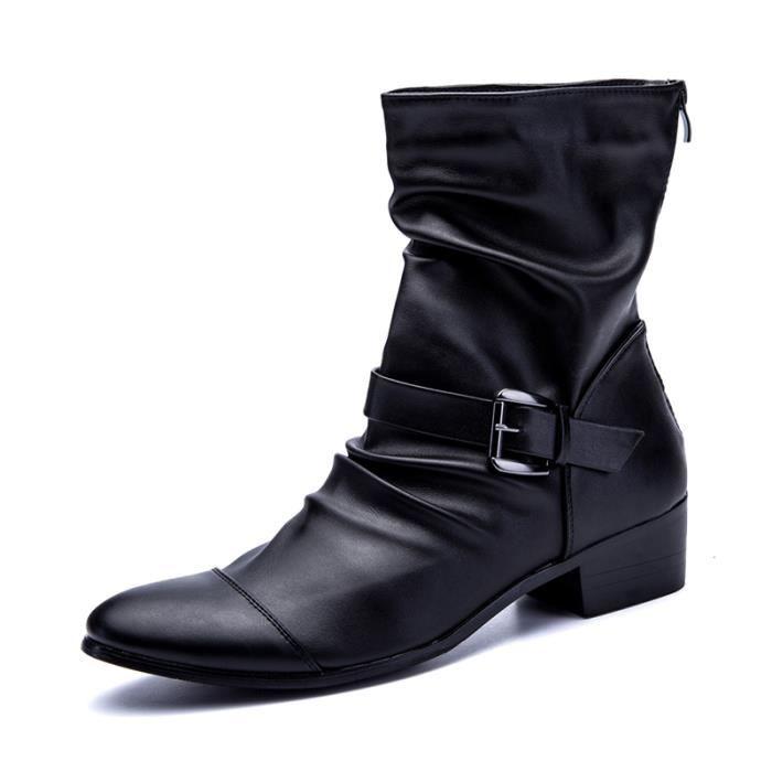 Chaussures homme Bottes mode Bottes en cuir Chaussures étanches Chaussures confortablesBottes originaux