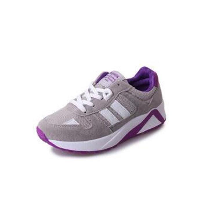 Femme Sport Basket Chaussure de Course Run Feminine Respirante Chaussures - Gris gsqQh