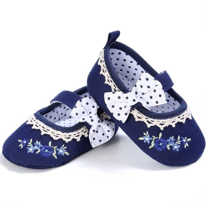 BOTTE Bébé nourrisson enfants fille en cuir Toddler nouveau-né chaussures@Bleu foncéHM fmR3avuM