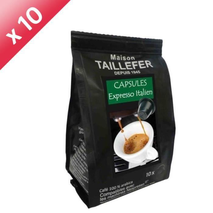 CAFÉ - CHICORÉE Lot de 10 sachets de 10 capsules Café Expresso Ita