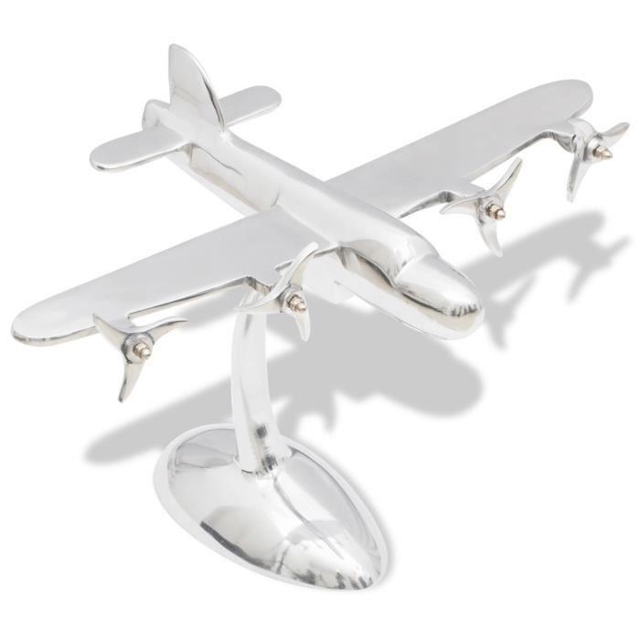 Décoration sous forme d'avion en aluminium pour bureau   Achat