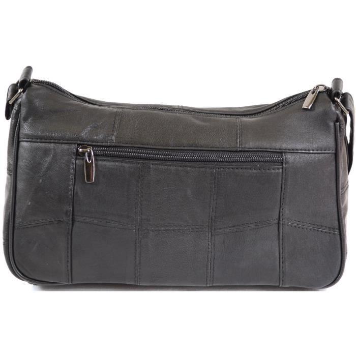 Lorenz Dames Super Soft Nappa sac à main - bandoulière en cuir (noir, brun foncé, Tan) K1KHK