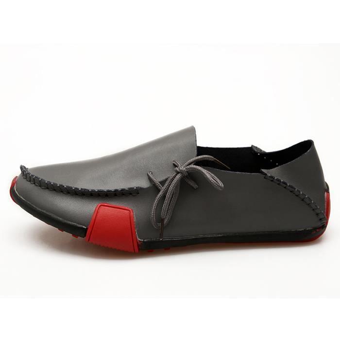Hommes Cuir Décontractée Chaussures en Noir fJo8ZgNNm9