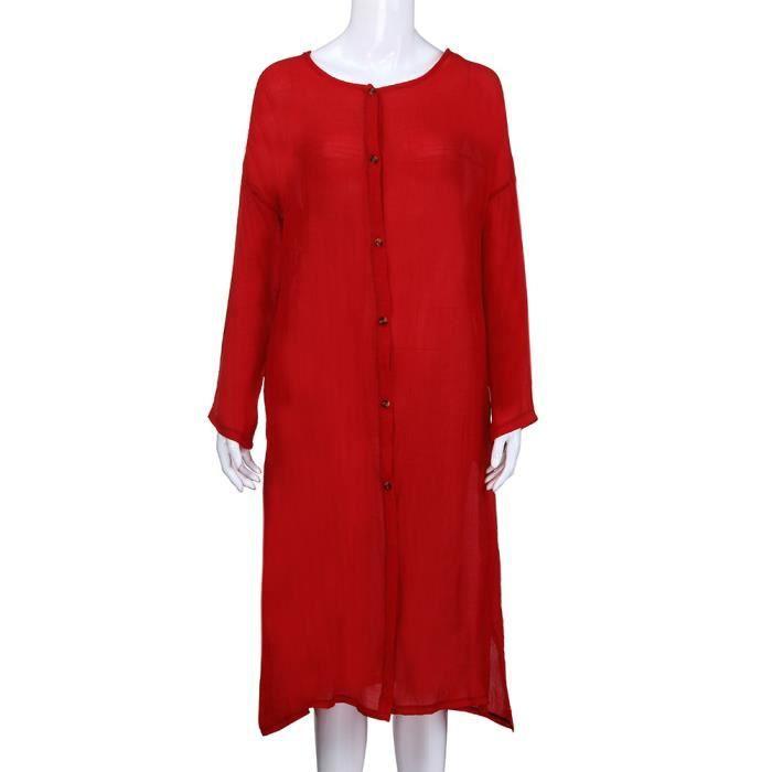 Casual Femmes Spentoper Longues Bouton Long Ouvert Blazer Manches Cardigan Avant Solide Manteau 5gwnwxf