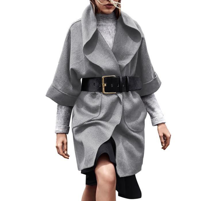 Parka Manteau Ouvert Femmes Longues Manteaux ®iui1852 Manches Avant Cardigan Tops qTXqgwBI