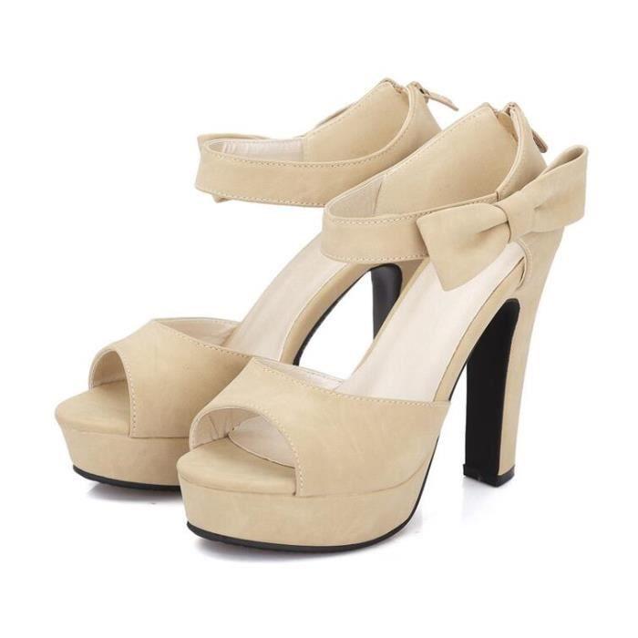 des sandales femmes solide bowknot piaulement à xJjvWlj2