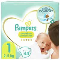 PAMPERS New Baby Taille 1 - 2 à 5Kg - 44 couches