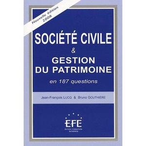 LIVRE DROIT AFFAIRES Société civile et gestion du patrimoine