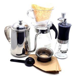 COMBINÉ EXPRESSO CAFETIÈRE  ensemble goutte à goutte fait à la main café (Gou