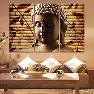 OBJET DÉCORATION MURALE 3pieces Classique Bouddha Peinture Solennelle Boud  ...
