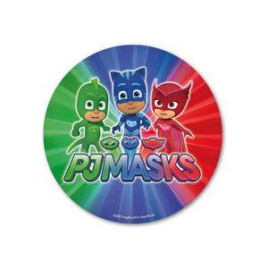 Figurine décor gâteau Disque azyme Pyjamasques multicolore 20 cm