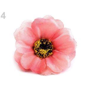 FLEUR ARTIFICIELLE 5pc 4 Rose de Fleurs Artificielles Chefs Ø50mm, de
