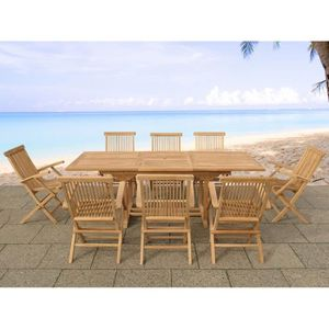 Table et chaises de jardin en acacia - Achat / Vente Table et ...