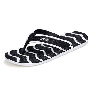 Flip Flops Anti- Slip Sandales de plage de marche Casual en plein air ST33Q Taille-42 1-2 feI8tsc