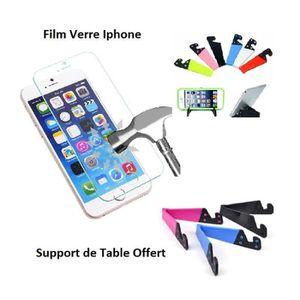 FILM PROTECT. TÉLÉPHONE Accessoire Iphone 4 4S, Film Verre Trempé HD anti