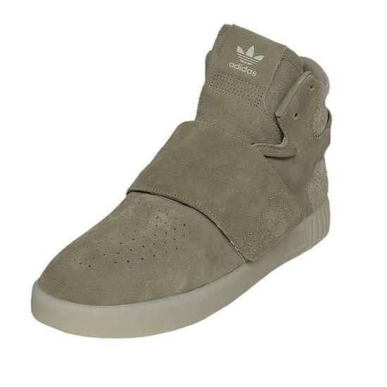 Adidas Homme Chaussures Chaussures Chaussures Baskets Tubular Invader Strap Noir Olive 77a470