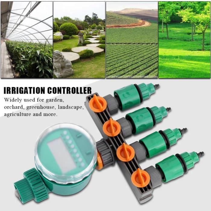 Jardin eau minuterie irrigation contr leur kit avec 4 way - Arrosage automatique jardin potager ...