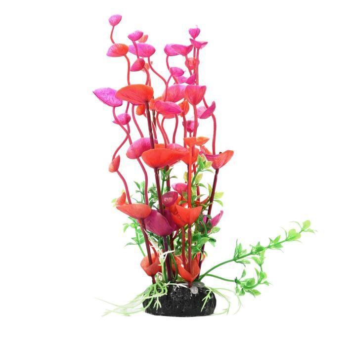 Plastique Emulational Décoratif Longue Feuille Plantons Pour Aquarium Rd 83
