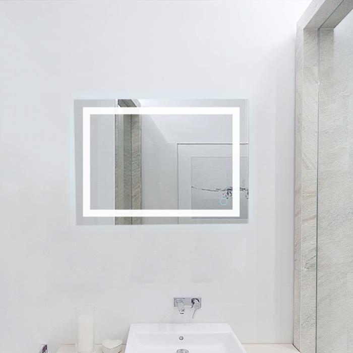 eclairage led miroir salle de bain Miroir de salle de bain avec éclairage LED 22W